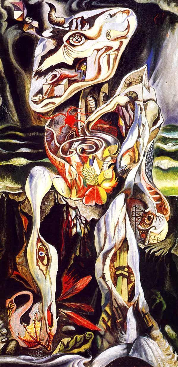 """André Masson, """"El laberinto"""", 1938"""