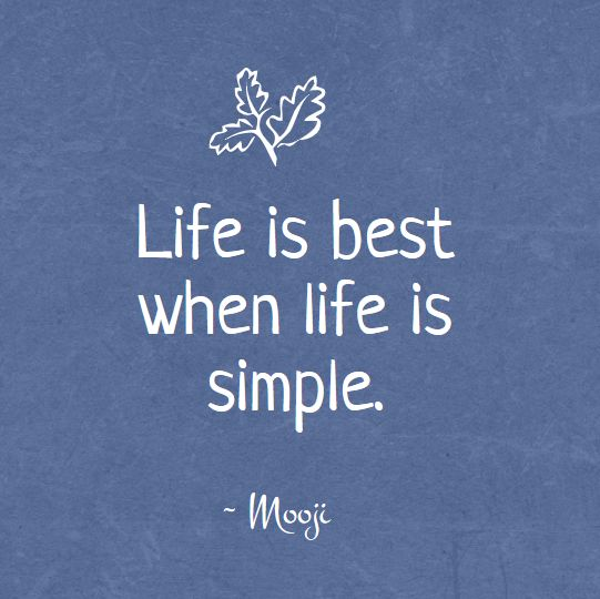 The wisdom of Mooji - Simplicity