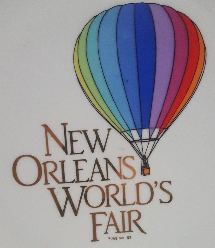 Rare Vintage New Orleans Worlds Fair 1983 SOUVENIR PLATE