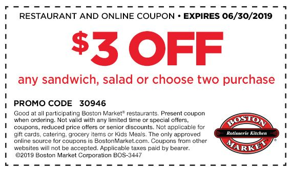 Boston Market Coupon To Try New Lunch Menu Finding Debra Boston Market Free Promo Codes Coupons