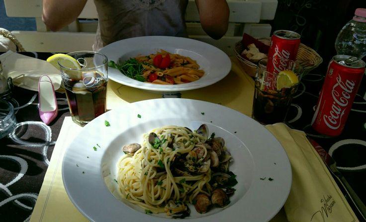 Jesolo Italia, spaghetti alle vongole, my favorite