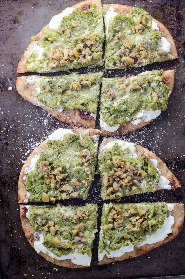 Learn how to make a Broccoli Garlic Naan Pizza using this easy and healthy recipe.
