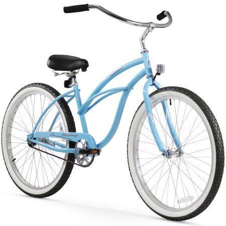 26 inch Firmstrong Urban Lady Single Speed Women's Beach Cruiser Bike, Baby Blue