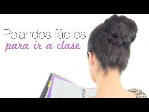 PEINADOS FÁCILES PARA IR A CLASE Aquí os enseño 3 opciones rápidas para ir a clase o simplemente por el placer de llevar unos peinados elegantes durante toda...