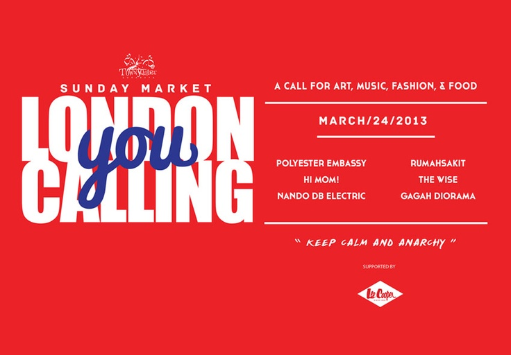 "Lee Cooper Sunday Market ""London Calling You"""
