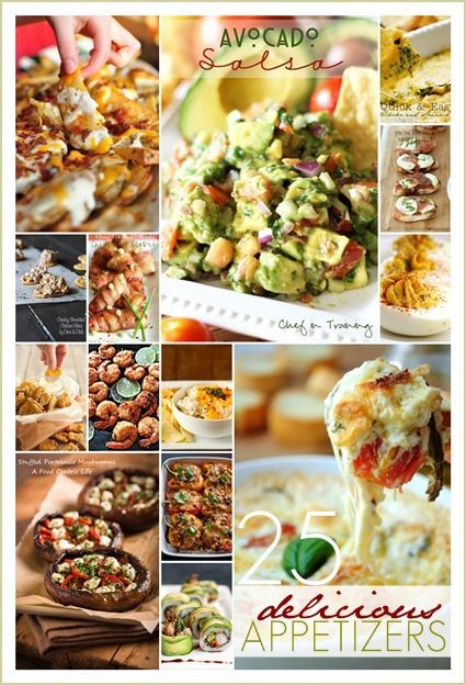 25 Delicious Party Perfect Appetizers ! Great for Entertaining, Holidays, and even Tailgating !