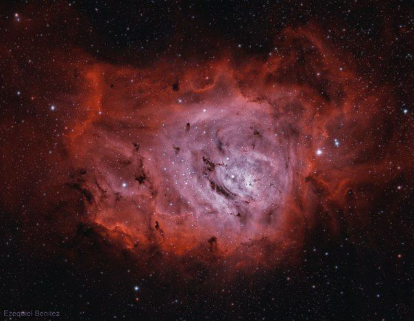 Туманность Лагуна, М 8 / Популярная астрономия