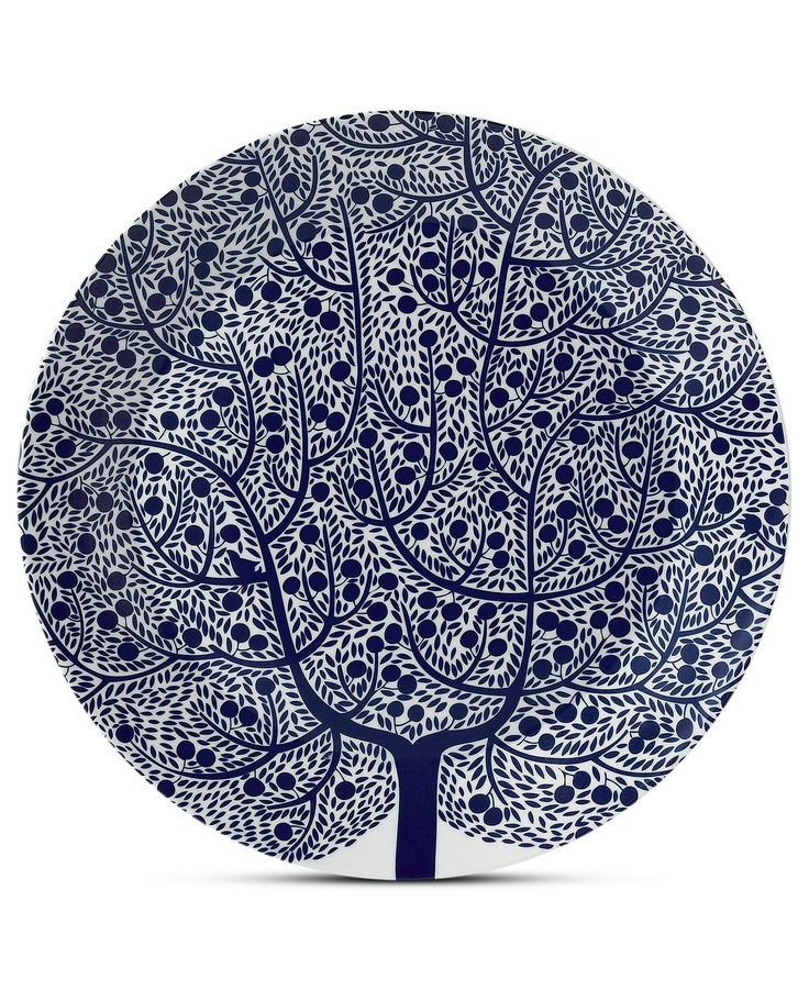 Royal Doulton Dinnerware, Fable Round Platter Blue Tree - Serveware - Dining & Entertaining - Macy's