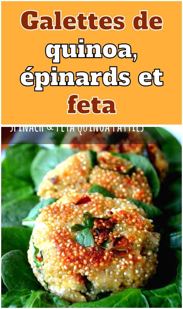 Galettes de quinoa épinards et feta  (English) These spinach