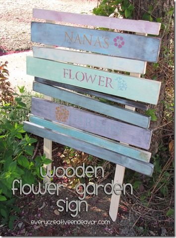 how to make a simple wooden garden sign