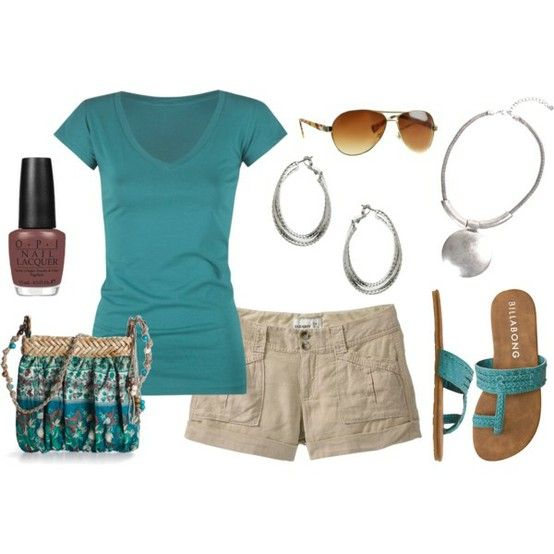 cute: Fashion, Casual Outfit, Casual Summer, Style, Clothing, Cute Summer Outfits, Summer Shorts, Outfit Shorts, Dreams Closets