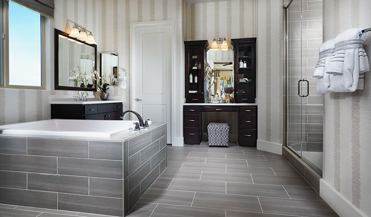 This majestic master bath in Las Vegas, NV, is equal parts form and function | Hanford plan by Richmond American