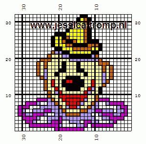 Clown hama perler beads