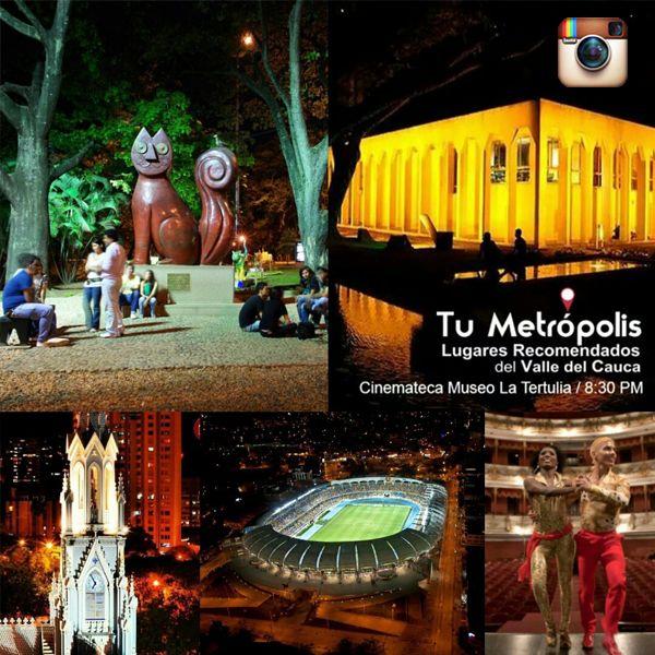#Tu_metrópolis Tomas fotográficas simultaneas de #Santiago_de_Cali Actividades Nocturnas.