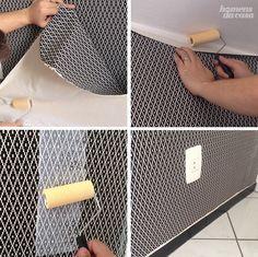 Muito bom! Como aplicar tecido na parede...