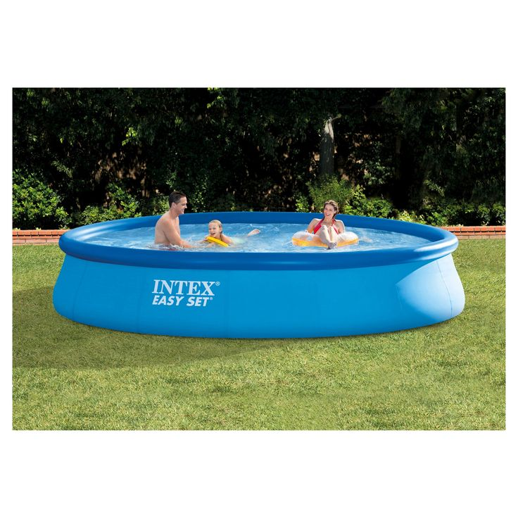 Intex 15' x 33 Easy Set Above Ground Pool with Filter Pump, Blue