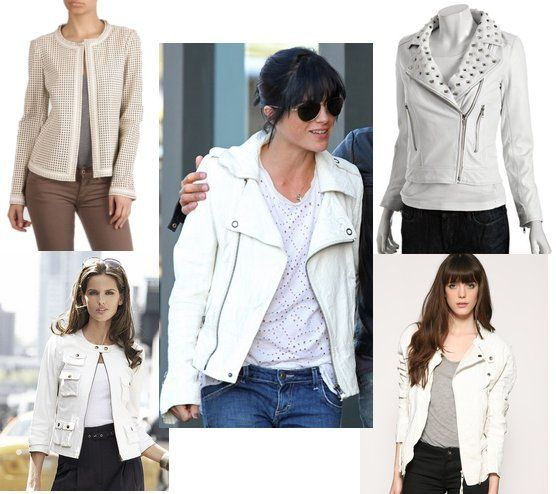 Inspired Style: Crisp White Leather Jackets For a Fresh Fall