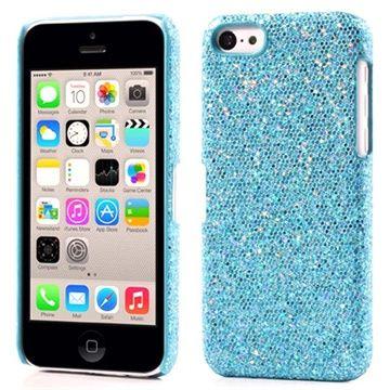 Babyblå iPhone 5C glitter cover