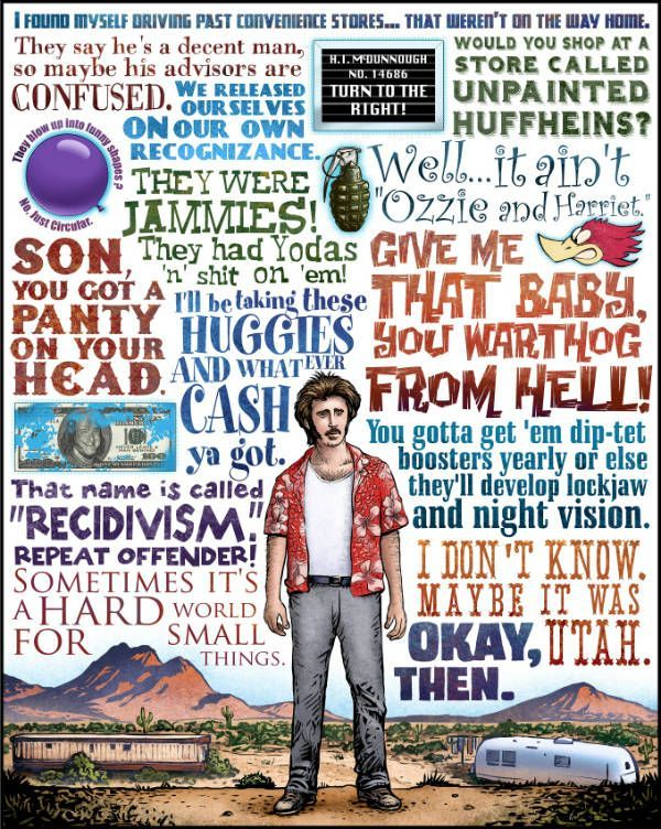 Chet Phillips has a new series of posters featuring your favorite quotes from the movies of the Coen Brothers.... My favorite is Raising Arizona!