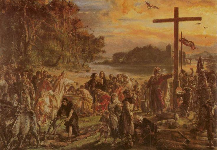 Christianisation of Poland in 965 - Jan Matejko
