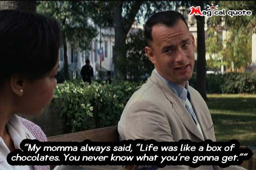 "#ForrestGump - My momma always said, ""Life was like a box of... #moviequotes"