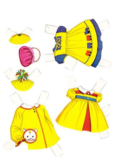 (⑅ ॣ•͈ᴗ•͈ ॣ)                                                            ✄Chatty Cathy Paper Doll