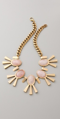 lulu frost: Bling, Motel Necklace, Rose Quartz, Statement Necklaces, Fashion Style, Frost Necklace, Gold Necklaces