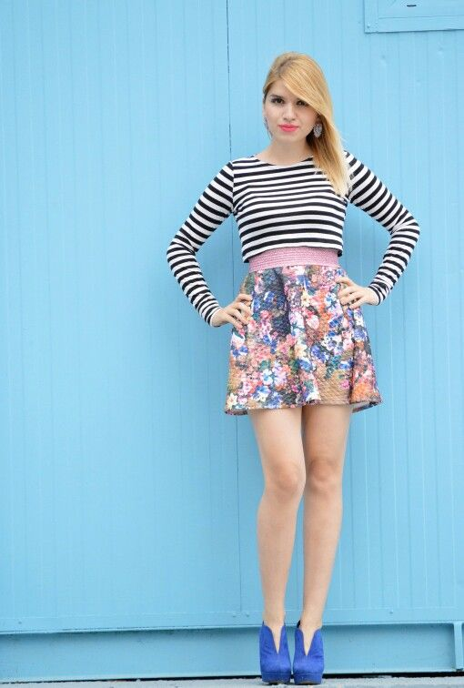 #floral #stripes #skirt #vasilikicomgr #vasiliki #fashionbloggers #zara