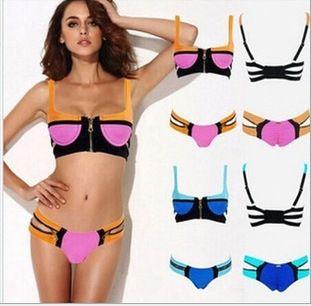 2015 Biquines Brazilian Colorful Push Up Neoprene Bikini Sexy women Swimwear Padded Swimsuit For Girls US $853.00 Specifics GenderWomen Item TypeBikinis Set is_customizedYes Pattern TypeGeometric Brand Nameoem WaistLow Waist MaterialPolyester,Spandex Color StyleContrast Color Model Numbernew003  Click to Buy :http://goo.gl/t9O329