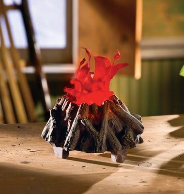Electric Miniature Campfire Logs Woodland Decor