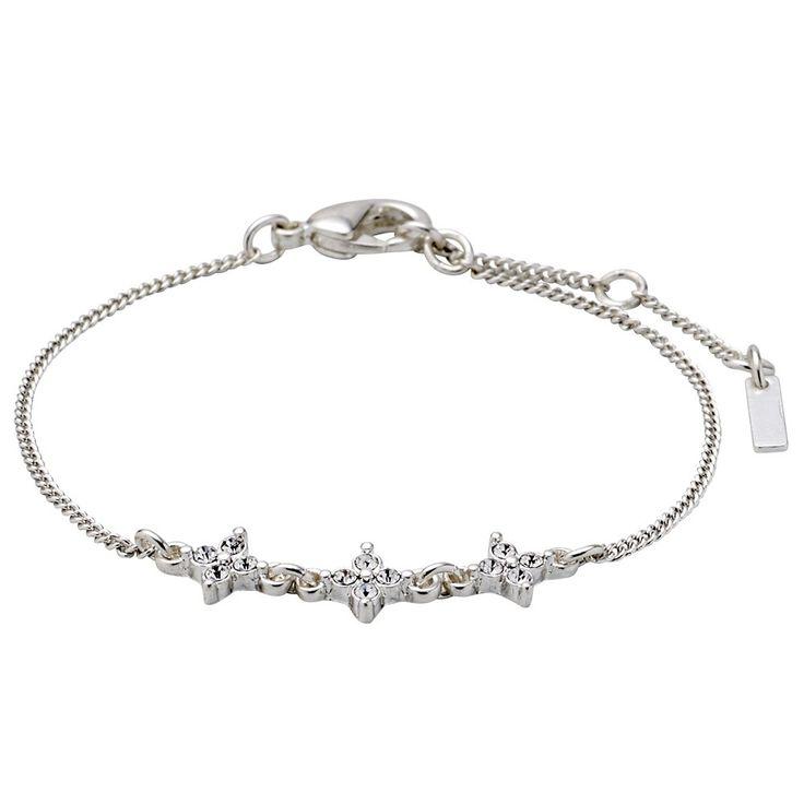 ❤ Pilgrim - Armband mit Strasssternen - versilbert | melovely
