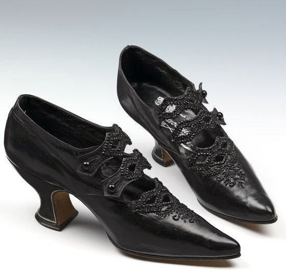 Shoes - c. 1908 - Made in Vienna, Austria - Sold by Jack Jacobus Ltd. - Glacé…