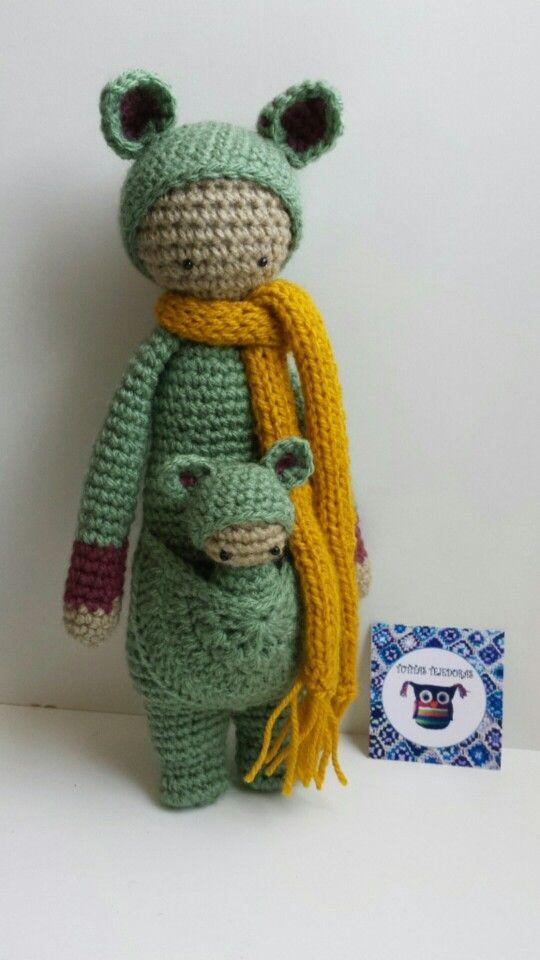 Cangurita tecnica amigurumi tejida a crochet por Tutitas Tejedoras
