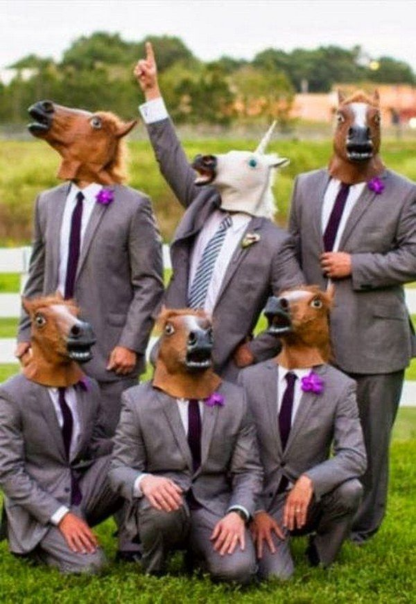 Wedding jokes and funny pictures / http://www.deerpearlflowers.com/fun-groomsmen-photo-ideas-and-poses/