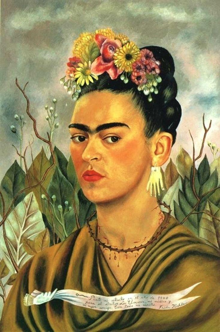 Self Portrait Dedicated to Dr Eloesser  by Frida Kahlo