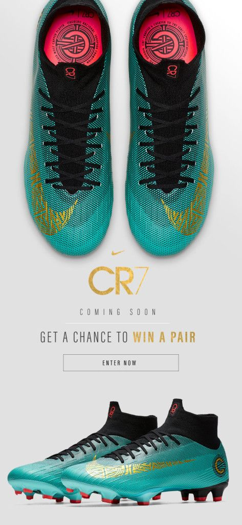 8490ca8a00a Cristiano Ronaldo · Nike Mercurial CR7 Chapter 6  Born Leader Available  from  WorldSoccerShop on 3 22