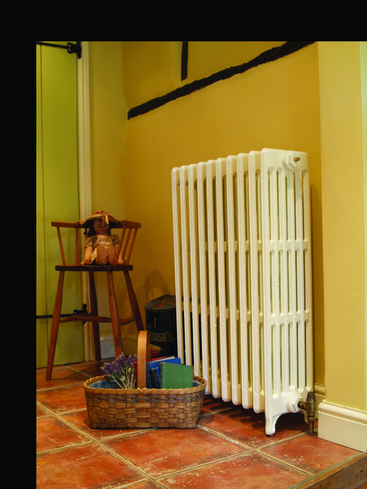 6 Column, Cast Iron Radiator In Buttermilk, Available At Ribble Reclamation