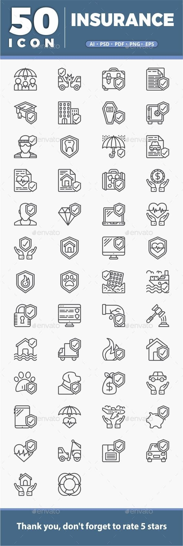 50 Insurance Icons