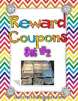 Reward Coupons-Set 2 (65 Coupons)
