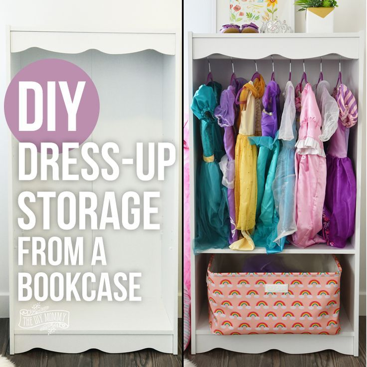 Diy Home Diy Dress Up Storage From A Bookcase Hack Listfender Leading Inspiration Magazine Shopping Trends Lifestyle More Dress Up Storage Dress Up Closet Bookcase Storage