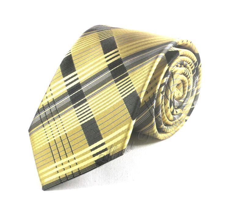 http://www.sadekravat.com/sari-siyah-ekose-cizgili-kravat-4631