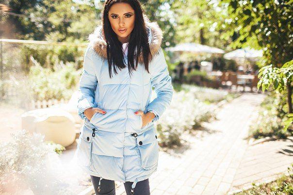 Зимний куртка пальто Marta голубая