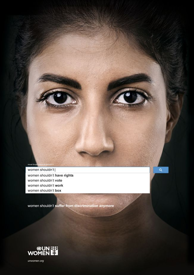 Powerful Ads Use Real Google Searches to Show the Scope of Sexism Worldwide Simple visual for inequality By David Griner
