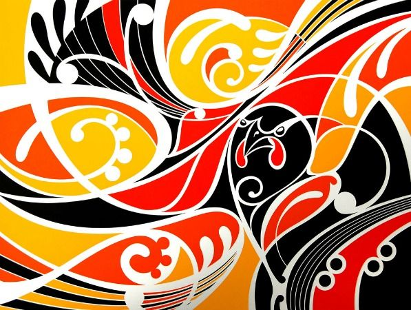 #artprint limited edition, Ataahua Tieke (Gold) by #ShaneHansen http://www.prints.co.nz/page/fine-art/Maori_Art_Design/9112&AFFIL=kL62qV6J