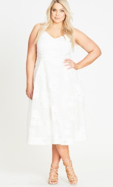 20 White Party Dresses For Sexy Curvy Plus Size Women Plus Size