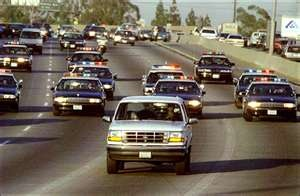 Who doesn't remember the low-speed freeway chase that made world headlines following the murder of Nicole Brown Simpson and friend Ron Goldman in 1994. OJ Simpson's friend AC Cowlings was behind the wheel. He was charged with a felony for aiding a fugitive.