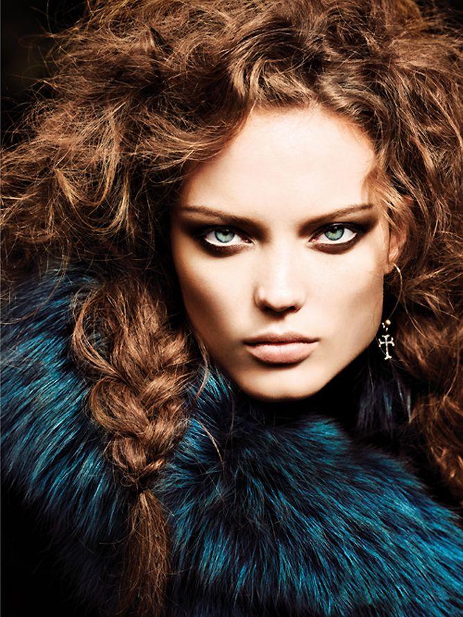 Naty Chabanenko by Jonathan Segade for Kurv Magazine#25 Editorial: Born Wild: Magazine, Face, Editorial, Dramatic Eye, Makeup, Beautiful, Fashion Photography, Fashion Beauty Photography, Hair