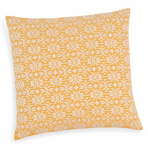 Fodera di cuscino in cotone gialla 40 x 40 cm TAVIRA