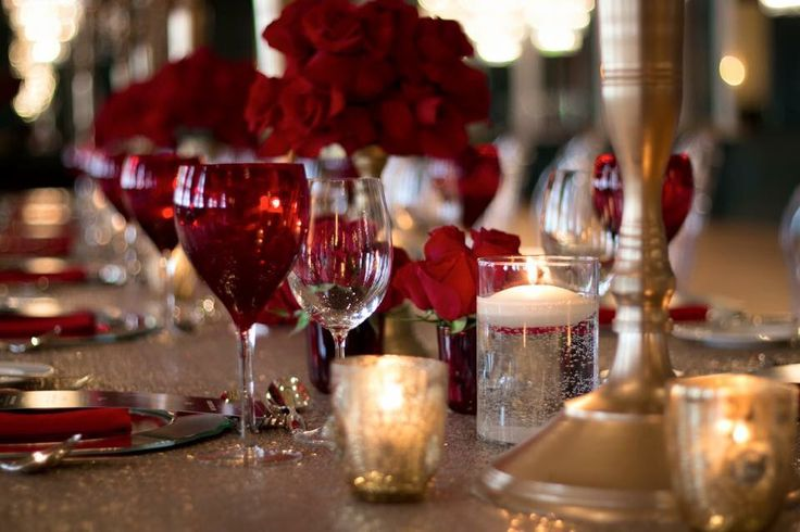 #roses #red #candles #flowers #dinning #celebration