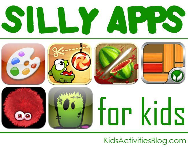 A collection of silly apps for kids - great for while you are doing errands.  Let your children draw, do puzzles, etc.